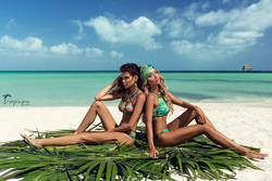 amazing beach fashion photoshoot in Mexico for Zingara