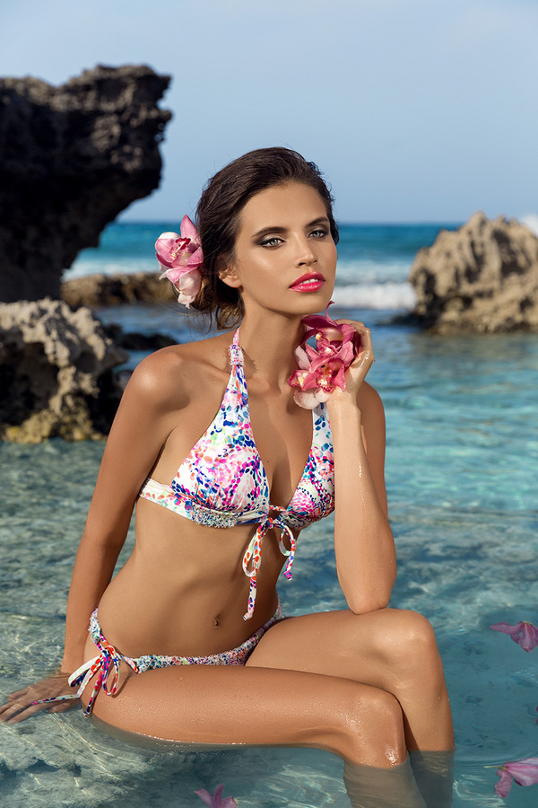 Gabriela Cruz mexican fashion model in Swimwear by Zingara.