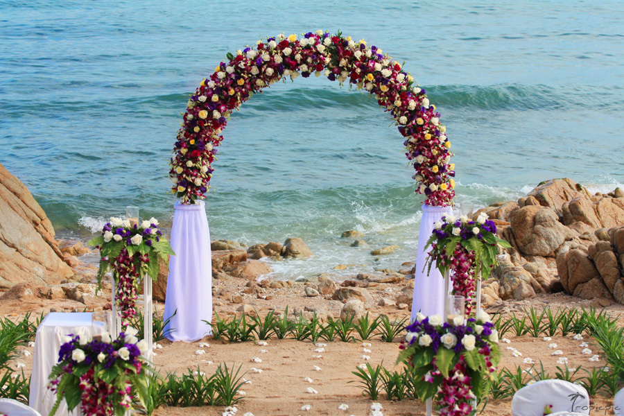 Beach wedding ceremony pictures