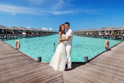 Best Photographer on Maldives , destitation wedding , dress  摄影师马尔代夫 TropicPic