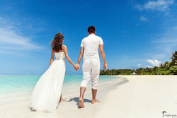 vows renewal on Maldives , destitation wedding, wedding photographer 摄影师马尔代夫 TropicPic