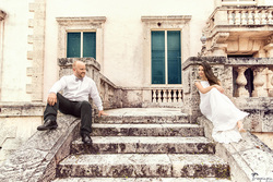 Wedding photoshoot in Villa Vizcaya