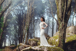 Beautiful bride in forest, photoshoot by TropicPic . TropicPic Retouch