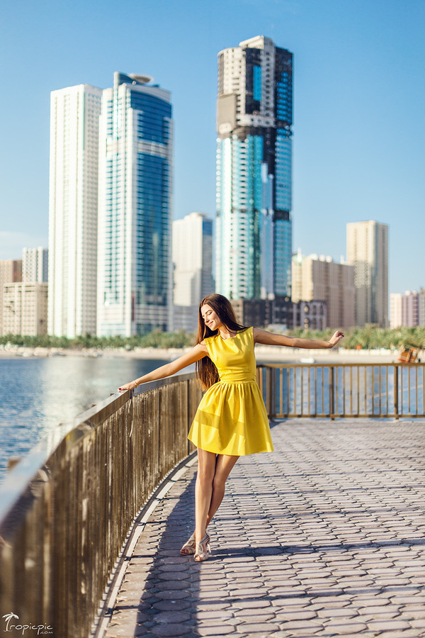 fun photoshoot in Dubai