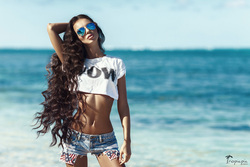 wow efect . Long Hair. Dominican republic . Photoshoot.