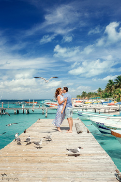 Photoshoot in Isla Mujeres, Mexico