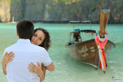 Lovely couple on Phi Phi island , Thailand
