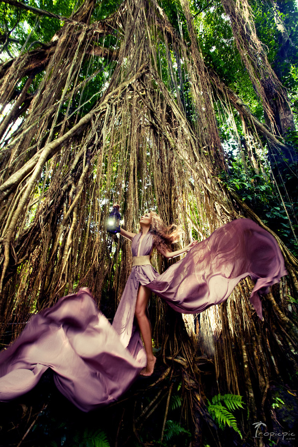 Fashion photography in Bali , Indonesia